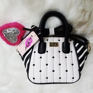 NWT Betsey Johnson Mini Satchel Purse Crossbody